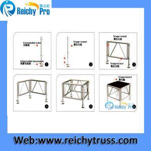 Black Stage Platform Adjustable Stage Anti-Slip Moving Stage pictures & photos
