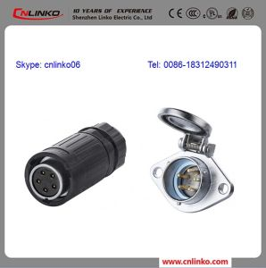 5 Pin LED Lighting Outdoor Cable Waterproof Connector pictures & photos
