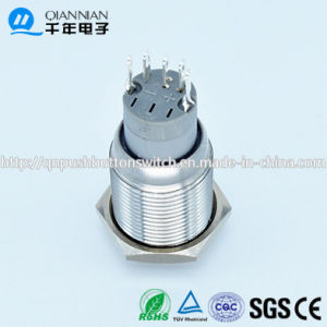 Qn16-B2 16mm Momentary|Latching Elevated Head Waterproof Metal Push Button Switch pictures & photos