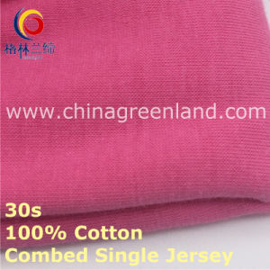 Knittied Cotton Single Jersey Fabric for Bulk Textile (GLLML420) pictures & photos