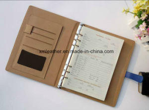 2017 Custom Loose Leaf PU Leather Notebook Diary pictures & photos