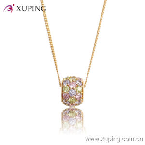 32413-Best Selling Crystal Ball Diamond CZ 18k Gold Plated Jewelry Pendant Necklace pictures & photos