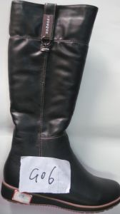 PU Ladies Fashion Knee-High Flat Boots (S 20-2)
