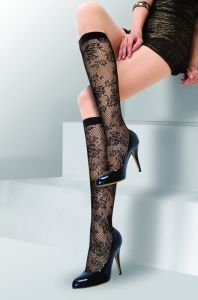 Floral Pattern Fish Net in Tube Socks HD303 pictures & photos