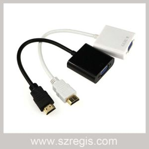 15cm HDMI to VGA Multimedia Monitor Coaxial Adapter HDMI Cable pictures & photos