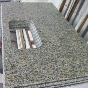 Yellow Butterfly Granite Kitchen Island pictures & photos
