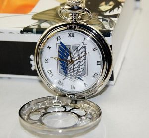 Fashion Design Quartz Movement Pocket Gift Sliver Watch
