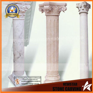 Indoor Marble Columns, Hotel Stone Pillars, Garden Pillars pictures & photos