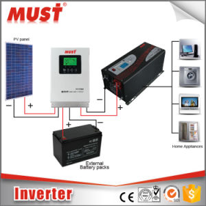 LCD Pure Sine Wave 12VDC 24VDC 48VDC DC to AC Power Star Inverter pictures & photos