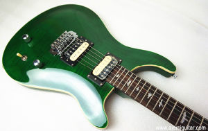 Cheap Price Green Colour Curly Maple Body Prs Electric Guitar pictures & photos