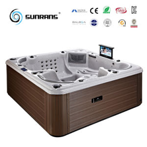 sunrans hot sale ce approved indoor spa wood stove hot tub