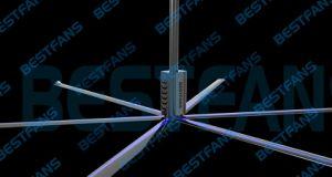 3.5m Diameter High Volume (710square meters) , Low Speed (105RPM) Ventilating Fan