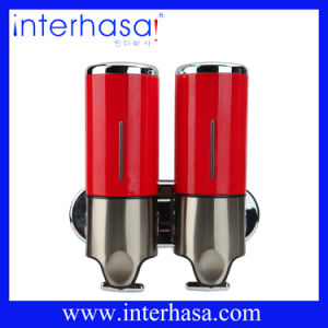 Red ABS Chrome Double 500ml*2 Soap Dispenser pictures & photos