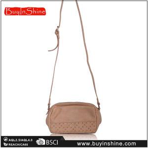 Fashion Beige Studded Crossbody Bag