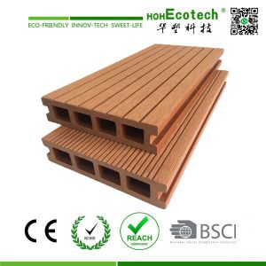 Hollow Wood Plastic Composite Flooring pictures & photos
