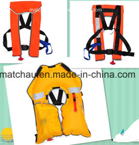 Colorful Printing Single Air Chamber Inflatable Life Jacket pictures & photos