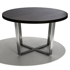 Stainless Steel Round Wooden Top Dining Table pictures & photos