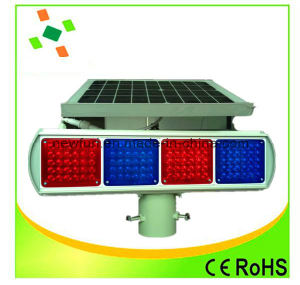 Flashing Solar Traffic Signal Light Red Blue Traffic Safety Signal pictures & photos