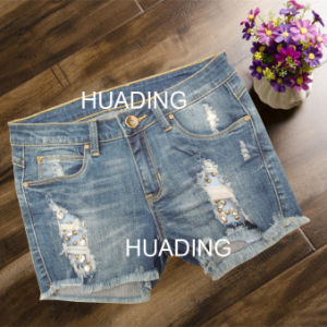 Hot Sexy New Design Women′s Shorts Jeans Ripped Jeans (HDLJ0054) pictures & photos