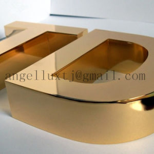 Made in China Gold Mirror Polished Stainless Steel Signs Metal Alphabet Letter pictures & photos