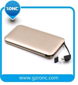 8000mAh Mobile Power Banks with Built-in Andriod/Ios Cable pictures & photos