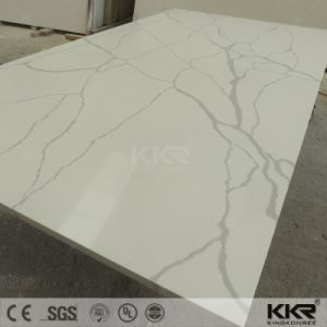 Sparkle White Artificial Quartz Stone Slab for Floor Tiles pictures & photos