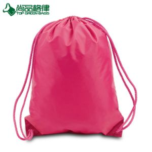 Promotion Durable Polyester Drawstring Backpack Bags Shopping Drawstring Sling Bag pictures & photos