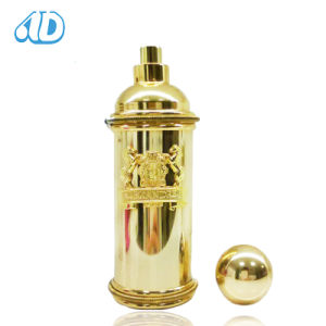 Ad-P409 Cylinder Gold Spray Perfume Glass Bottle 100ml pictures & photos