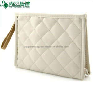 Fashion Green Travel Toiletry Bag Makeup Polyester Cosmetic Beauty Pouch pictures & photos