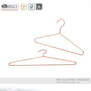 Hh Light Copper Wire Metal Hanger, Copper Metal Hangers for Jeans pictures & photos