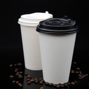 Wholesale White Drinking Paper Cups Coffee Cup with Lids pictures & photos