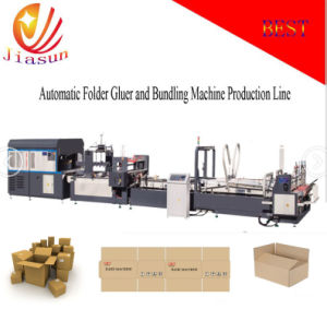 Automatic Folder Gluer and Bundling Machine for Fold Fruit Box (JHXDB-2800) pictures & photos