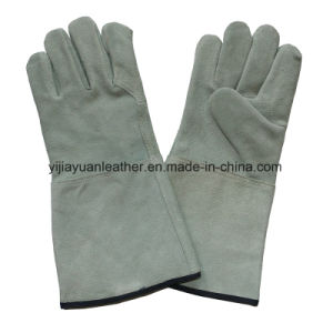 Cow Split Leather Safety Welding Work Gloves pictures & photos