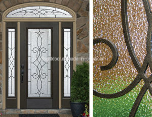 High Quality Safe Swing Exterior Solid Wood Door pictures & photos