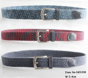 2018 Fashion Man′s Braided Belts (NO1038) pictures & photos