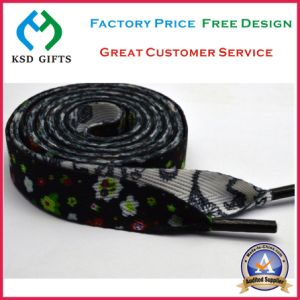 Factory Printed Polyester Shoe Lace with Logo Custom (KSD-1151) pictures & photos