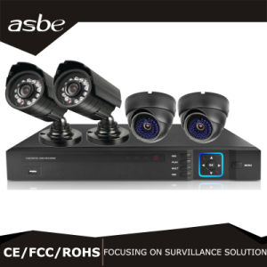 960p Indoor Outdoor Weatherproof CCTV Cameras 4CH Security Camera System DVR Recorder pictures & photos