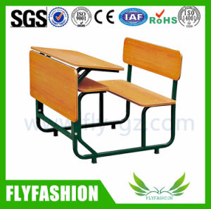 School Furniture Double Student Desk and Chair (SF-47D) pictures & photos