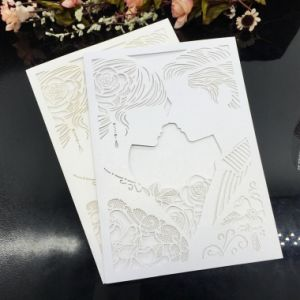 High Quality Laser Cut Pearl Paper Wedding Invitation Cards pictures & photos