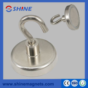 NdFeB Super Round Base Magnet Magnetic Hook pictures & photos