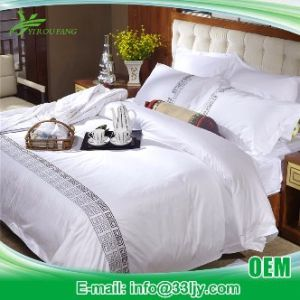 Cotton Embroidery Custom Hotel Duvet Cover Set pictures & photos