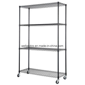 Mobile 4 Shelf Adjustable Exhibition Room Display Storage Shelving Rack Suppliers pictures & photos