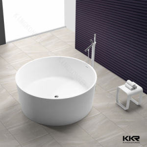 Hot Sale Artificial Stone Round Freestanding Bathtub for Sale pictures & photos