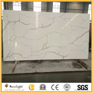 Pure Red Artificial Quartz Stone for Kitchen Countertop Slab pictures & photos