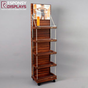 Floor Wood Body Care Vichy Lipometric Display Stand pictures & photos