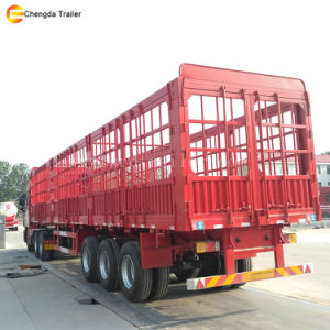 3 Axles Cargo Semi Trailer/60t Sidewall Cargo Trailer pictures & photos