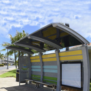 Outdoor Customized Steel Solar Bus Shelter Advertising Display pictures & photos
