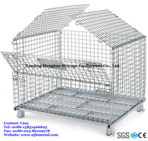 Stackable Metal Wire Mesh Storage Container with Top Cover pictures & photos