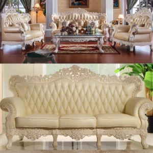 Classic Leather Sofa Furniture for Living Room Furniture pictures & photos