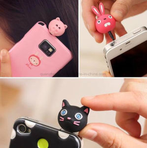 Custom Silicone Cartoon Cute Cell Mobile Phone Waterproof Dustproof Plug pictures & photos